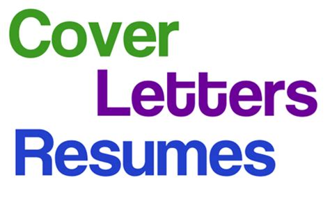 Letter covers for a resume